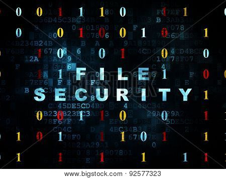 Security concept: File Security on Digital background
