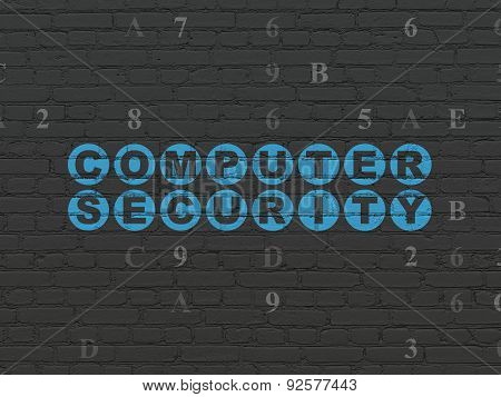 Protection concept: Computer Security on wall background