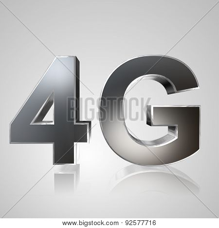 3D Text Mobile Network 4G