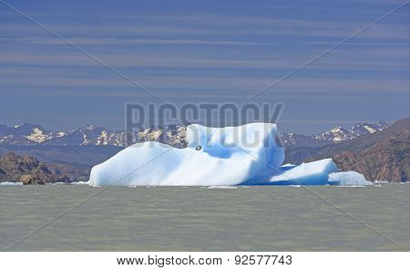 Unusual Iceberg In A Glacial Lake