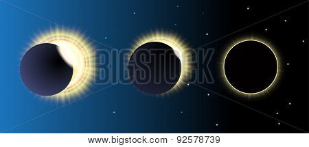 solar eclipse, vector