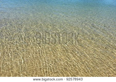 Clean Clear Sea Water On The Coastal Strip