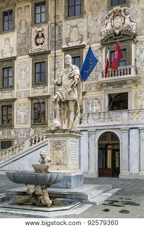 Statue Of Cosimo I, Pisa, Italy