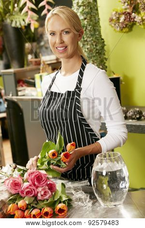 Portrait Of Female Florist In Shop
