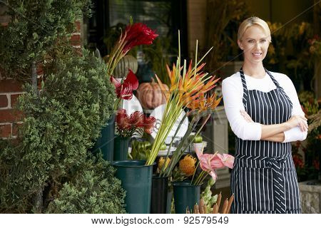 Portrait Of Female Florist Outside Shop
