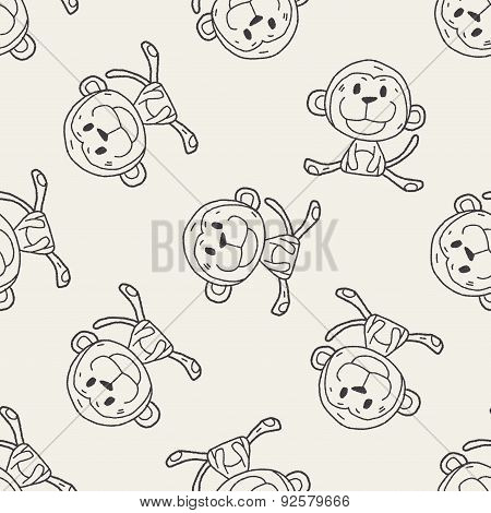 Chinese Zodiac Monkey Doodle Drawing