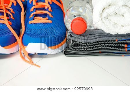 Sport Clothing And Shoes With Drinking Water