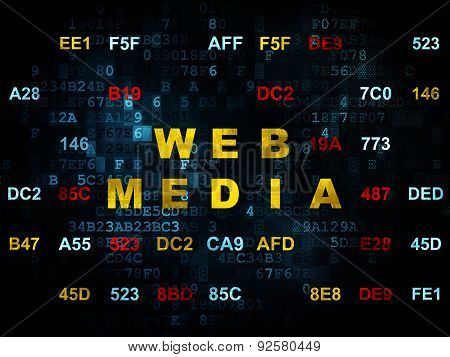 Web development concept: Web Media on Digital background