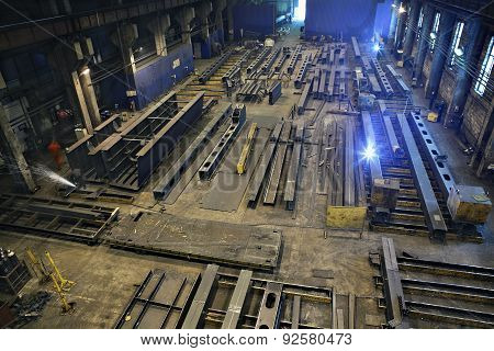 Production Of Steel Beams For Construction Buildings And Bridges.