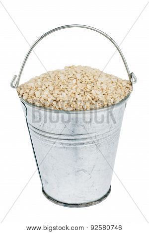 Bucket With Sesame Seeds