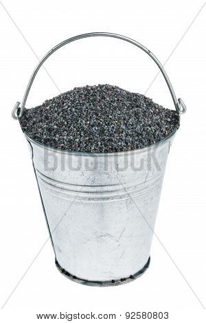 Bucket With Poppy Seed