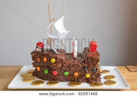 Pirate Chocolate Cake