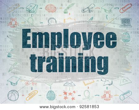 Education concept: Employee Training on Digital Paper background