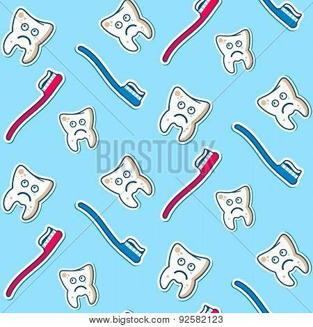 Ill Teeth Seamless Pattern