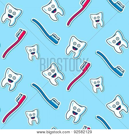 Health Teeth Seamless Pattern