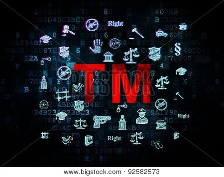Law concept: Trademark on Digital background