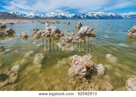 Colored Water From Tufa