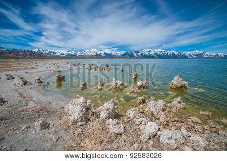 Shore Of Mono Lake In California