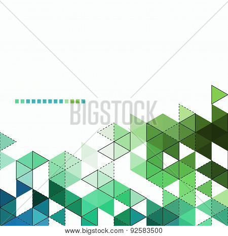 Abstract technology background with color triangle