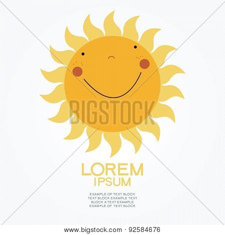 Cartoon sun. 