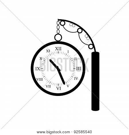 Clock Old Black Vector