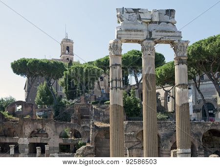 Italy. Rome. Ruins of an antique temple of Venus