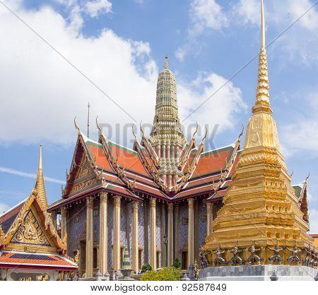 Landmark Wat Phra Kaeo, Temple of the Emerald Buddha Bangkok, Asia Thailand
