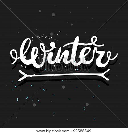 Winter Calligraphy Word