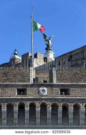 Archangel of Saint Michael on the Castel Sant'Angelo castle
