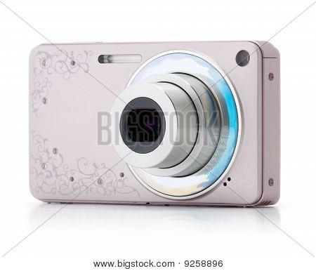 Pink Digital Compact Camera