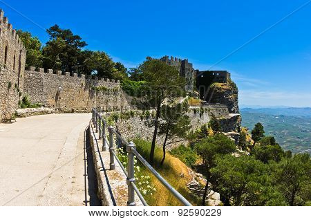 Promenade and castle of Venus at Erice, Sicily