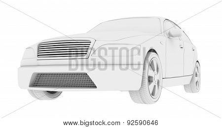 Car model on white