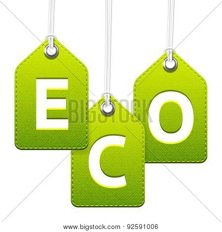 Green Eco Hanging Tags