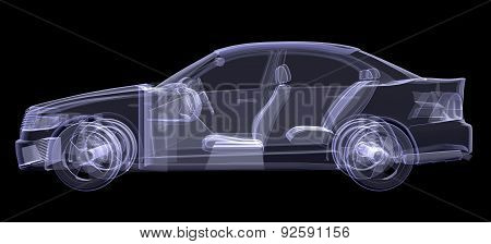 X-ray of car