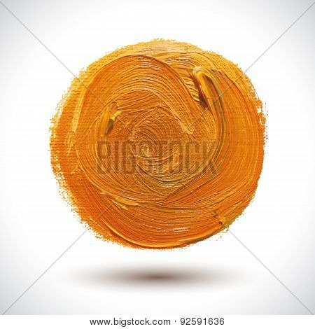 Abstract Orange Shape