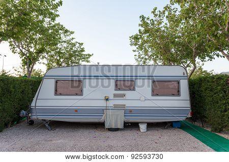 Caravan On A Camping Site