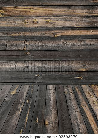 Old Weathered Plank Wood Product Photo Template