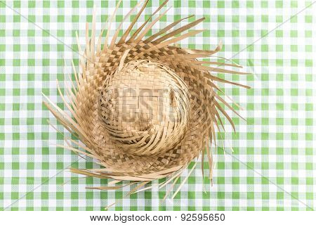 Brazilian Straw Hat on the table (Festa Junina Theme)