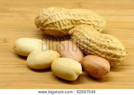 Peanut On Wood
