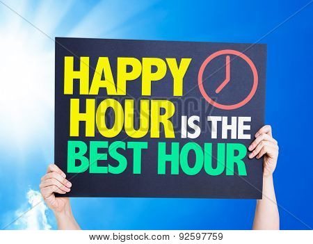 Happy Hour is the Best Hour card with a beautiful day
