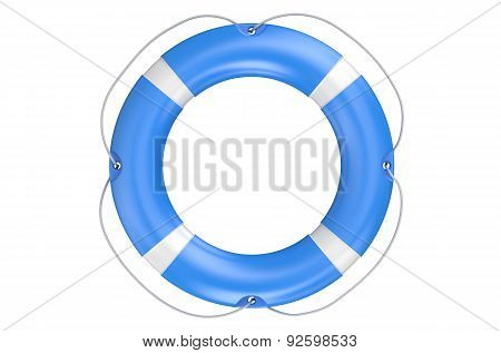 Single Blue Lifebuoy Closeup