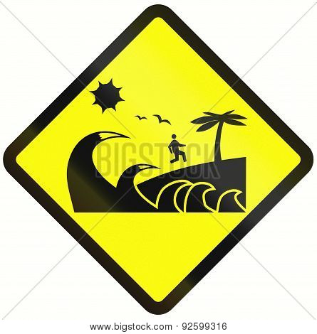 Tsunami Danger Zone In Indonesia