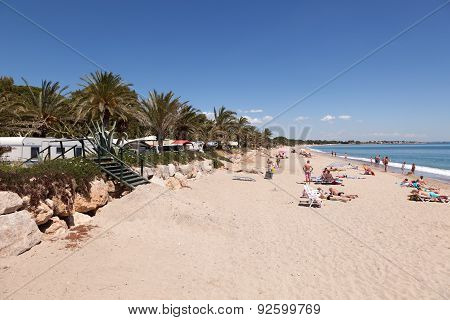 Mediterranean Beach in Spain