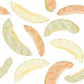 stock photo of melon  - Green and yellow melon pattern - JPG