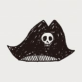 image of pirate hat  - Pirate Hat Doodle - JPG