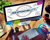 pic of responsibility  - Responsibility Reliability Trust Liability Trustworthy Concept - JPG