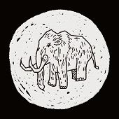 stock photo of mammoth  - Mammoth Doodle - JPG