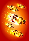 stock photo of meteors  - Meteor rain discounts - JPG
