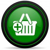 pic of cart  - cart green icon shopping cart symbol
