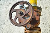 stock photo of gas-pipes  - Gas control valve - JPG